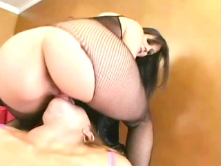 lesbian babes with sexy lingerie fisting butt