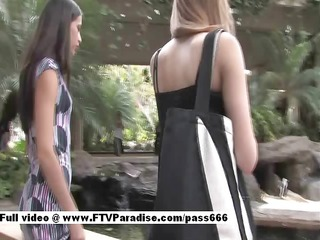 awesome two glamorous legal age teenager girls