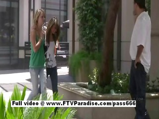 independent cute legal age teenager angel flashing
