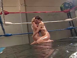 april adams lesbian oil wrestling
