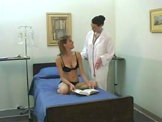 youthful beauty and mature lesbo doctor