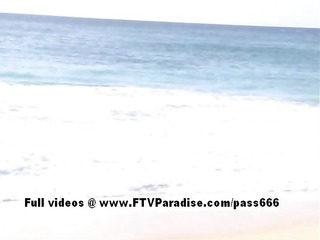 faye and larysa delicate crazy lesbos on beach