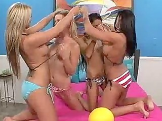 lesbo legal age teenager fuckfest at beach