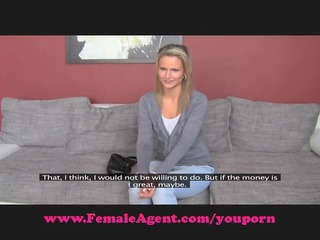 femaleagent. bisexual golden-haired beauty