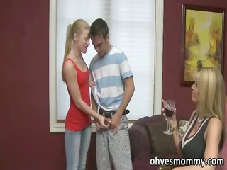 hawt and horny stepmom says she can receive the