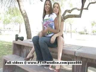 lilah delicate lesbos flashing outdoor